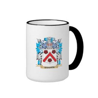 Escudo de armas de Bannon Taza De Dos Colores