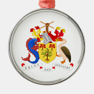 Escudo de armas de Barbados Adorno Navideño Redondo De Metal