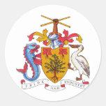 Escudo de armas de Barbados Etiquetas Redondas