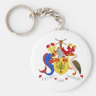 Escudo de armas de Barbados Llaveros Personalizados