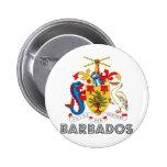 Escudo de armas de Barbados Pin Redondo De 2 Pulgadas