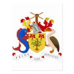 Escudo de armas de Barbados Postal