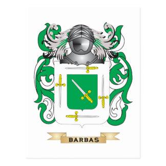 Escudo de armas de Barbas (escudo de la familia) Tarjetas Postales