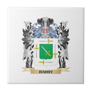 Escudo de armas de Barby - escudo de la familia Azulejo Cuadrado Pequeño