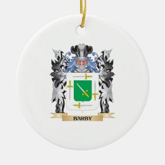 Escudo de armas de Barby - escudo de la familia Adorno Redondo De Cerámica