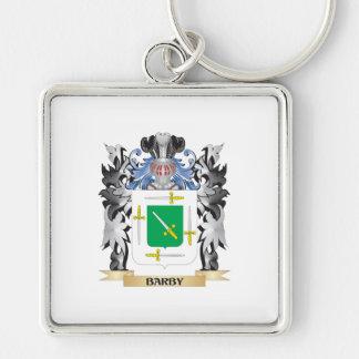 Escudo de armas de Barby - escudo de la familia Llavero Cuadrado Plateado