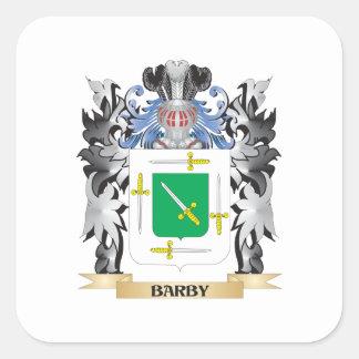 Escudo de armas de Barby - escudo de la familia Pegatina Cuadrada
