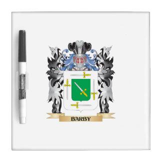 Escudo de armas de Barby - escudo de la familia Pizarras Blancas De Calidad