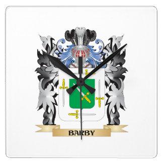 Escudo de armas de Barby - escudo de la familia Reloj Cuadrado