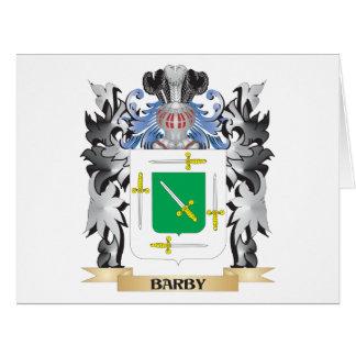 Escudo de armas de Barby - escudo de la familia Tarjeta De Felicitación Grande
