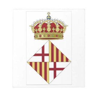 Escudo de armas de Barcelona (España) Bloc De Papel