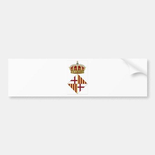 Escudo de armas de Barcelona (España) Pegatina Para Auto