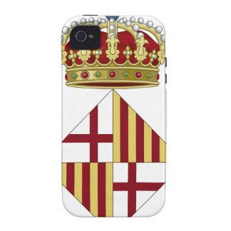 Escudo de armas de Barcelona (España) Vibe iPhone 4 Fundas