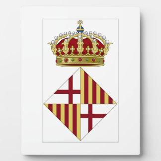 Escudo de armas de Barcelona (España) Placas Para Mostrar