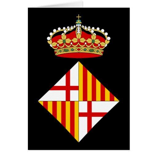Escudo de armas de Barcelona Felicitación
