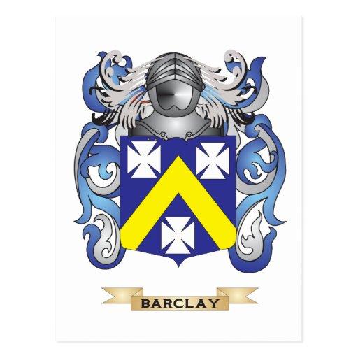 Escudo de armas de Barclay (escudo de la familia) Tarjetas Postales