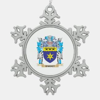 Escudo de armas de Bardet Adorno De Peltre En Forma De Copo De Nieve
