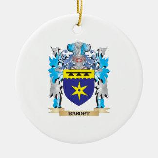 Escudo de armas de Bardet Adorno Redondo De Cerámica