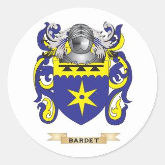 Escudo de armas de Bardet (escudo de la familia) Pegatina Redonda
