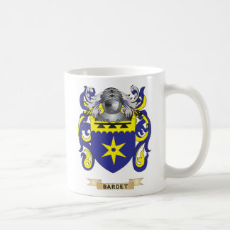 Escudo de armas de Bardet (escudo de la familia) Taza Básica Blanca