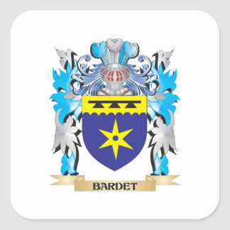 Escudo de armas de Bardet Pegatina Cuadrada