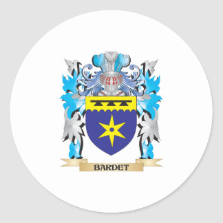 Escudo de armas de Bardet Pegatina Redonda