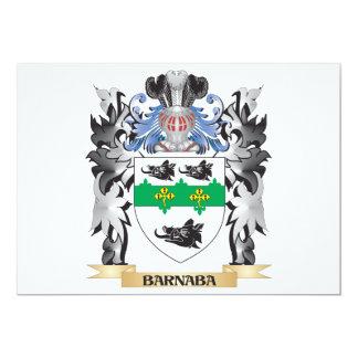 """Escudo de armas de Barnaba - escudo de la familia Invitación 5"""" X 7"""""""