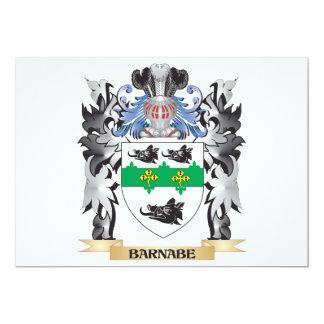 """Escudo de armas de Barnabe - escudo de la familia Invitación 5"""" X 7"""""""