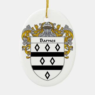 Escudo de armas de Barnes/escudo de la familia Adorno Ovalado De Cerámica
