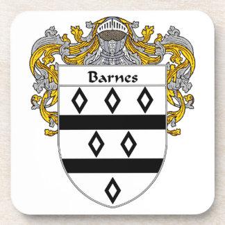 Escudo de armas de Barnes/escudo de la familia Posavasos De Bebidas