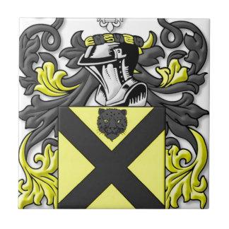 Escudo de armas de Barnett Azulejo Cuadrado Pequeño
