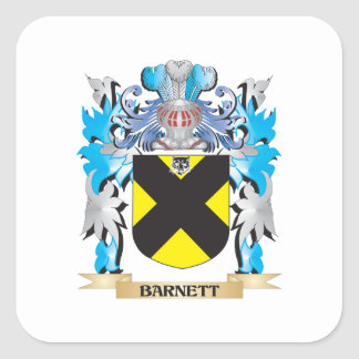 Escudo de armas de Barnett Pegatina Cuadrada