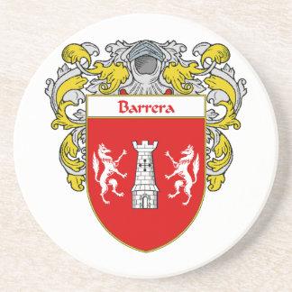 Escudo de armas de Barrera/escudo de la familia Posavasos Para Bebidas