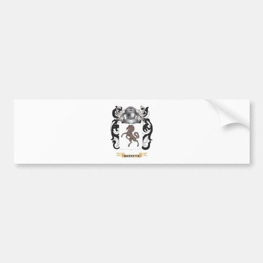 Escudo de armas de Barreta (escudo de la familia) Etiqueta De Parachoque
