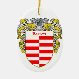 Escudo de armas de Barrett/escudo de la familia Adorno Ovalado De Cerámica