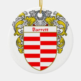 Escudo de armas de Barrett/escudo de la familia Adorno Redondo De Cerámica