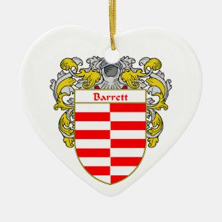 Escudo de armas de Barrett/escudo de la familia Adorno De Cerámica En Forma De Corazón