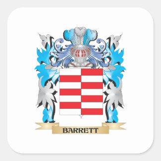 Escudo de armas de Barrett Pegatina Cuadrada