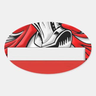 Escudo de armas de Barrie Pegatina Ovalada