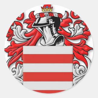 Escudo de armas de Barrie Pegatina Redonda