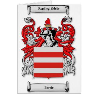 Escudo de armas de Barrie Tarjeta De Felicitación