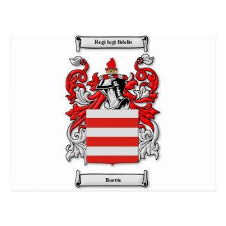 Escudo de armas de Barrie Tarjeta Postal
