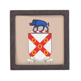 Escudo de armas de Barron Caja De Joyas De Calidad