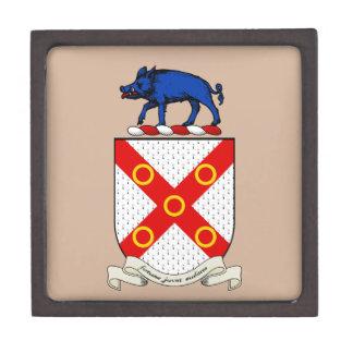 Escudo de armas de Barron Caja De Recuerdo De Calidad