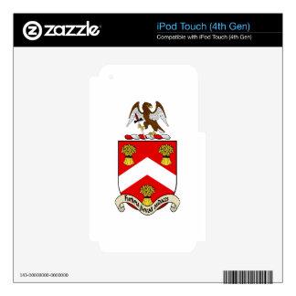 Escudo de armas de Barron Calcomanías Para iPod Touch 4G