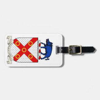 Escudo de armas de Barron Etiquetas Bolsa