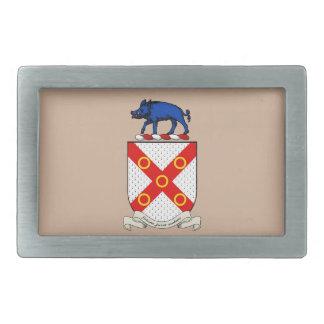 Escudo de armas de Barron Hebilla Cinturón Rectangular