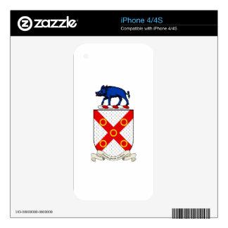 Escudo de armas de Barron iPhone 4 Skin