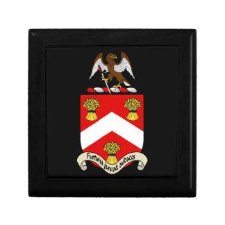 Escudo de armas de Barron Joyero Cuadrado Pequeño