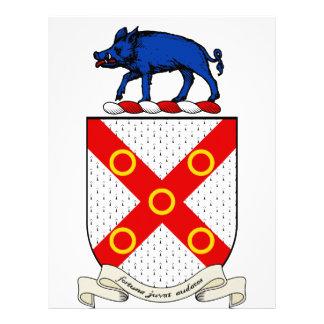 Escudo de armas de Barron Membretes Personalizados